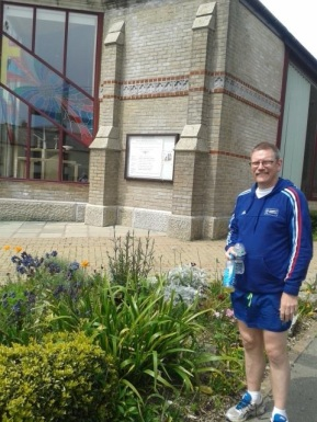 May 2014, Rev Mark Dunn-Wilson on his marathon Madness, raising funds for an orphanage in Mozambique